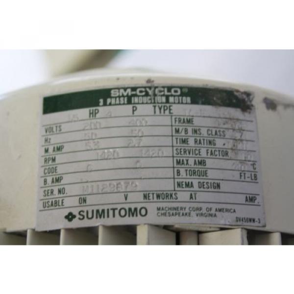 SUMITOMO SM-CYCLO CNVMS02-4100-A-119 GEAR MOTOR 119:1 #3 image