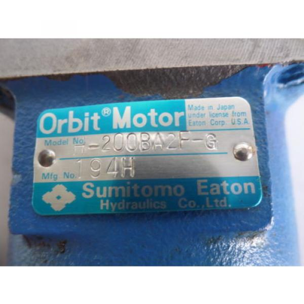 IKEGAI FX20Z SUMITOMO EATON ORBIT MOTOR H-200BA2F-G LOT# 1740M #6 image