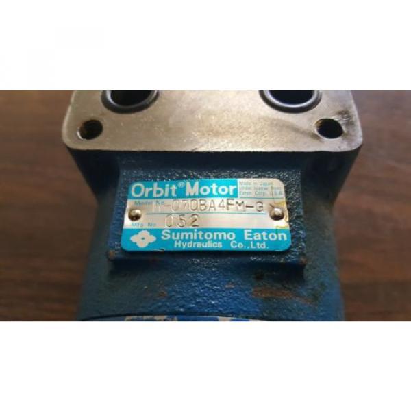 Sumitomo Eaton Hydraulic Orbit Motor, H-070BA4FM-G, Used, WARRANTY #2 image