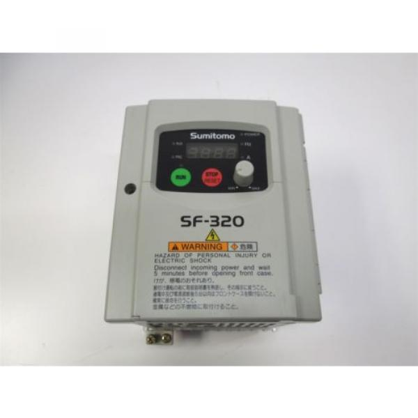 Sumitomo SF3204-A40-W 3 Phase AC Motor Drive Inverter VFD SF-320, 1/2HP 380/460V #1 image