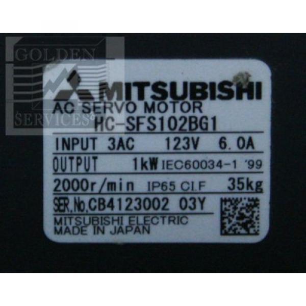 Mitsubishi HC-SFS102BG1 AC Servo Motor with Sumitomo CNVM-4115-6 Cyclo Drive #3 image