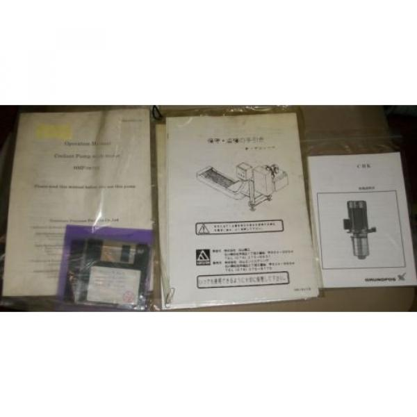 Sumitomo Precision Products Operation Manual Coolant Pump With Motor HMP-0879E #1 image