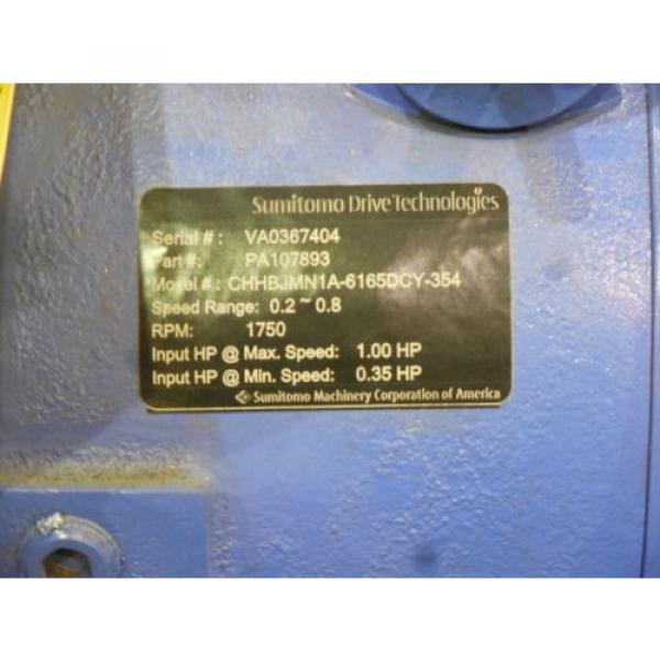 RX-1899, Origin SUMITOMO CYCLO 6000 DRIVE W/ 1 HP MOTOR CHHBJMNIA-6165DCY-354 #12 image
