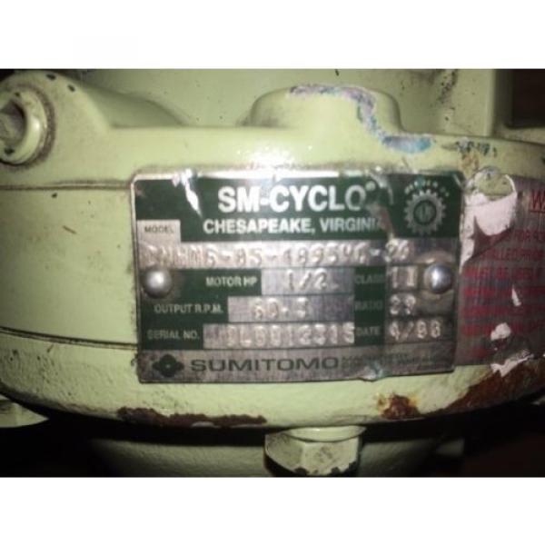 Sumitomo Cyclo gearmotor CNHMS-05-4095YC-29, 292 rpm, 29:1, 5hp, 230/460,inline #6 image
