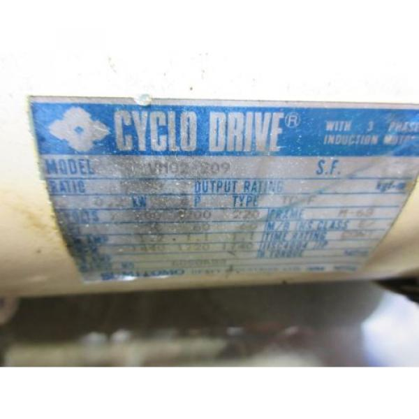 SUMITOMO CYCLO DRIVE VM02-209 CNC WITH LOWER GEAR #4 image