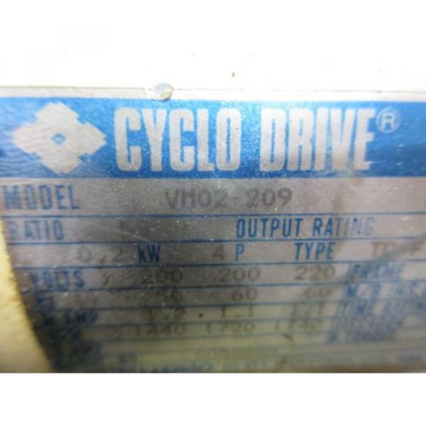 SUMITOMO CYCLO DRIVE VM02-209 CNC WITH LOWER GEAR #5 image