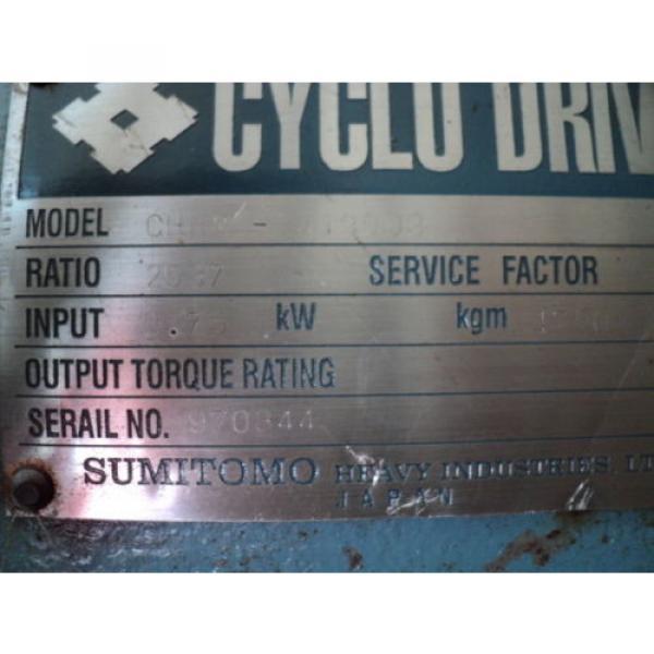 SUMITOMO CYCLO DRIVE CHHM-4190DB 2537:1 RATIO 075KW 1750RPM #3 image
