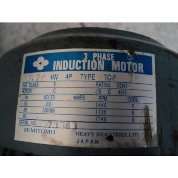 SUMITOMO CYCLO DRIVE CHHM-4190DB 2537:1 RATIO 075KW 1750RPM #5 image