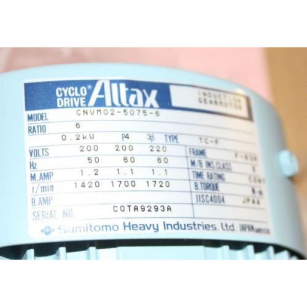 REDUCED Altax Cyclo Drive Induction Gearmotor Sumitomo CNVM02-5075-6 origin #2 image