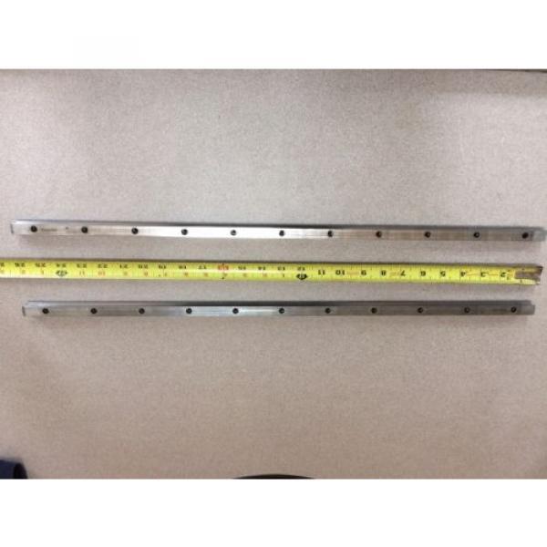 REXROTH  2 Rails  Guide Linear bearing CNC Route  model 7873 7210 13Q 26#034; L x 1/ #1 image