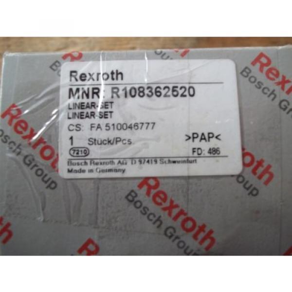 Origin IN BOX REXROTH R108362520 FLANGED LINEAR BUSHING BEARING SET #2 image