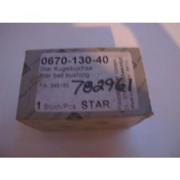 STAR Rexroth 30MM LINEAR SUPER BALL bushing BEARINGS 0670-130-40 Germany #1 image