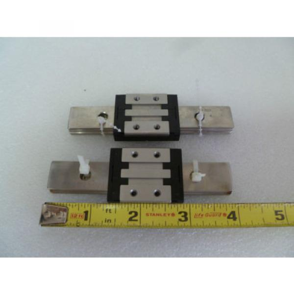 PAIR OF REXROTH R044389401 Linear Slide Rails 7210 4 INCH #1 image