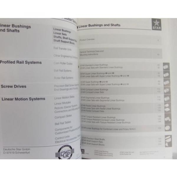 Mannesmann Rexroth Deutsche Star Linear Brushings shafts specs product manual #3 image