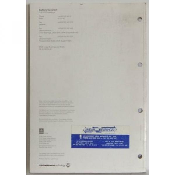 Mannesmann Rexroth Deutsche Star Linear Brushings shafts specs product manual #5 image