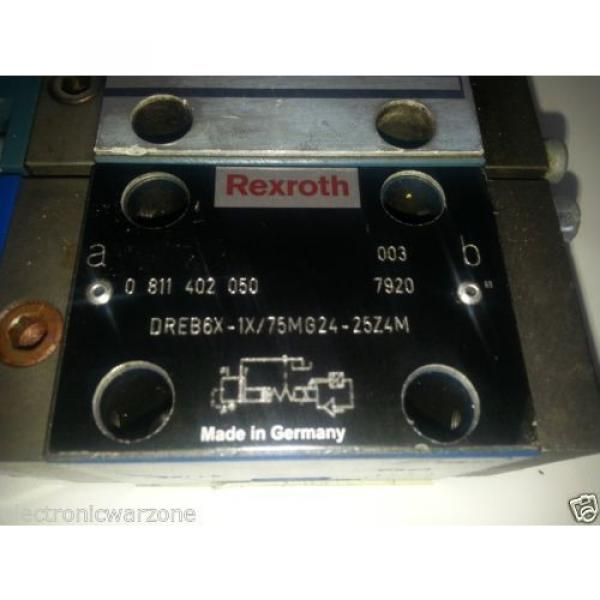 2 BOSCH REXROTH  DREB6X  PROPORTIONAL PRESSURE REDUCING VALVE PILOT OPERATED #3 image