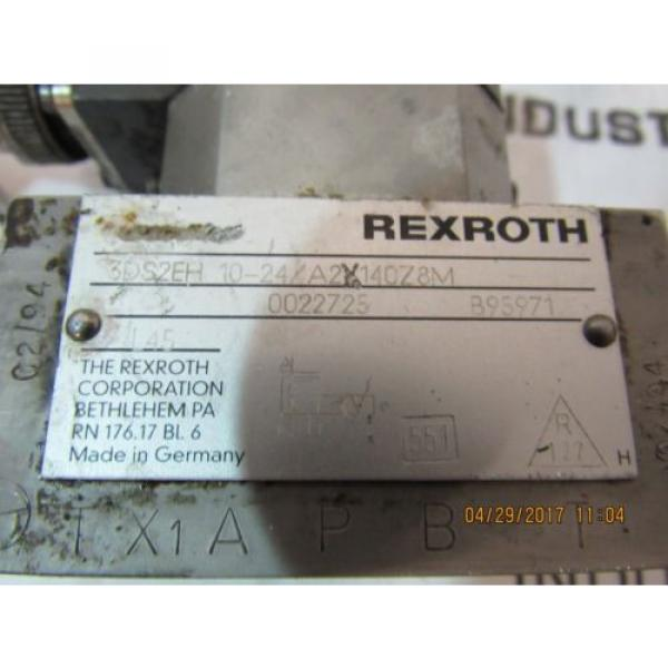 REXROTH SERVO VALVE 3DS2EH10-24/A2X140Z8M USED #3 image
