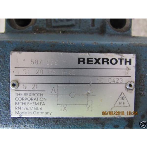REXROTH HYDRAULIC VALVE SL20PA1-42 Origin #7 image