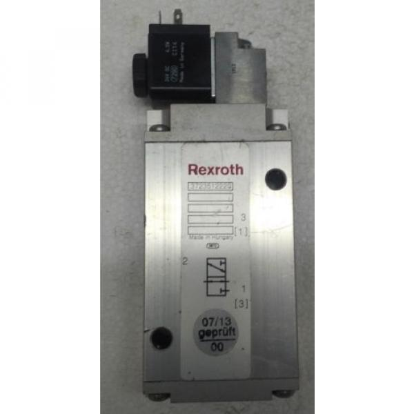 3723512220 REXROTH PNEUMATICS 3/2 WAY SOLENOID VALVE 24VDC Aventics Wabco Marine #5 image