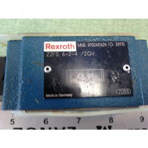 REXROTH HYDRAULIC CHECK VALVE  Z2FS 6-2-4/2QV MNR R900481624 FD 38910 #2 image