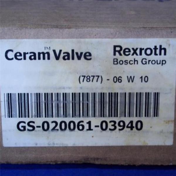REXROTH BOSCH GROUP 150PSI, CERAM VALVE GS-020061-03940 Origin #2 image