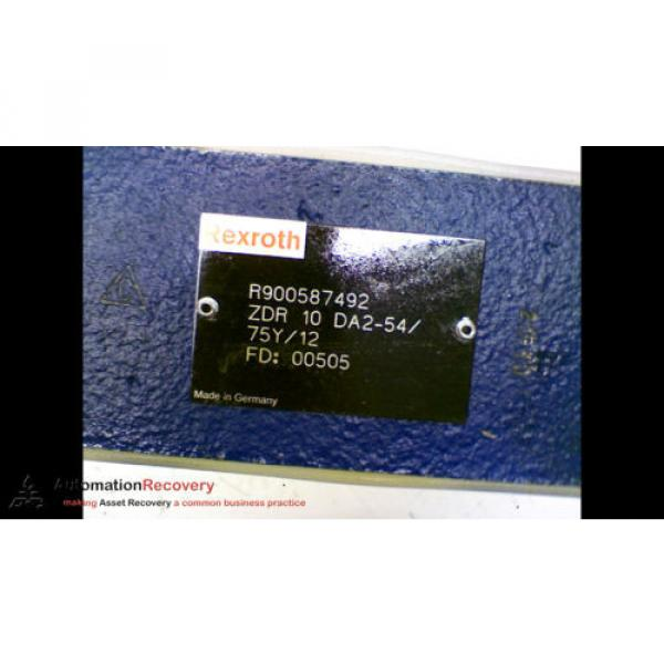 REXROTH ZDR 10 DA2-54/75Y/12 PRESSURE REDUCING VALVE FOUR PRESSURE, Origin #166950 #3 image
