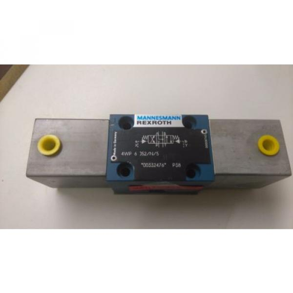 rexroth directional valve 4wp 6 j52/n/5 pneumatic controlled hydraulic valve #1 image
