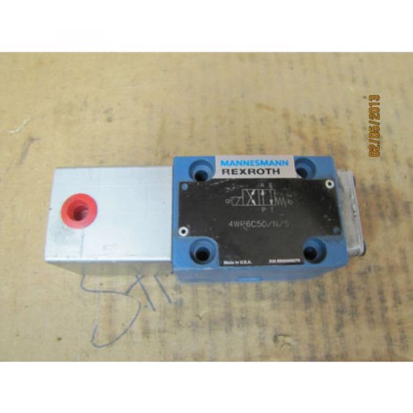 Mannesmann Rexroth Solenoid Valve 4WP6C50/N/5 4WP6C50N5 RR00009279 origin #1 image