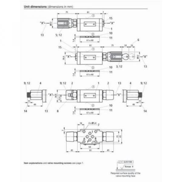 Z2FS6-2-4X/1QV Rexroth R900481623 Twin throttle Sandwich Plate Valve Hydraulics #8 image