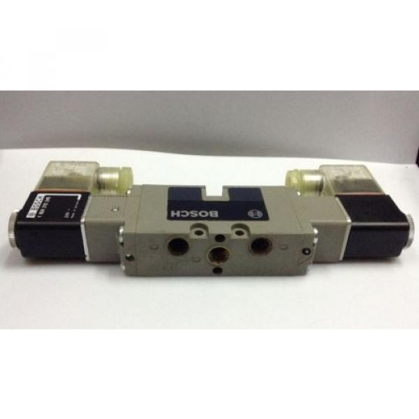 BOSCH 0820 022 502 Double Solenoid Pneumatic Valve 5 port-2 posn 1/8 in 24 V DC #3 image
