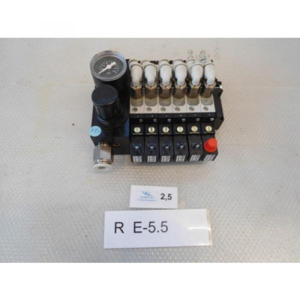 Rexroth Valve Terminal 0820060761mit 5x Directional Control Valve 5/2 + #1 image