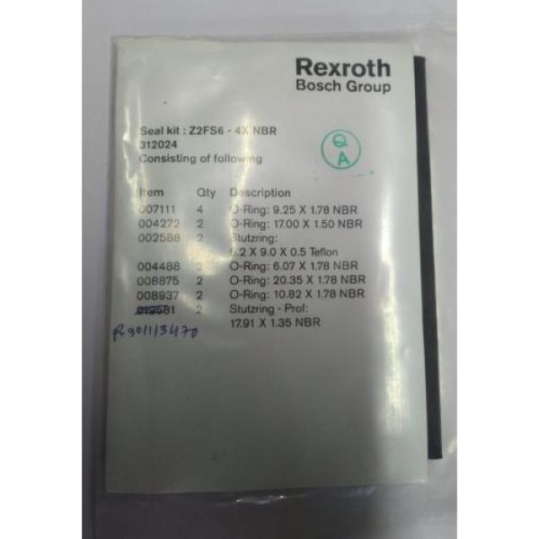 Z2FS64X/ SEAL KIT RexrothR900899023  Make Direct Operated Pressure Relief Valve #1 image