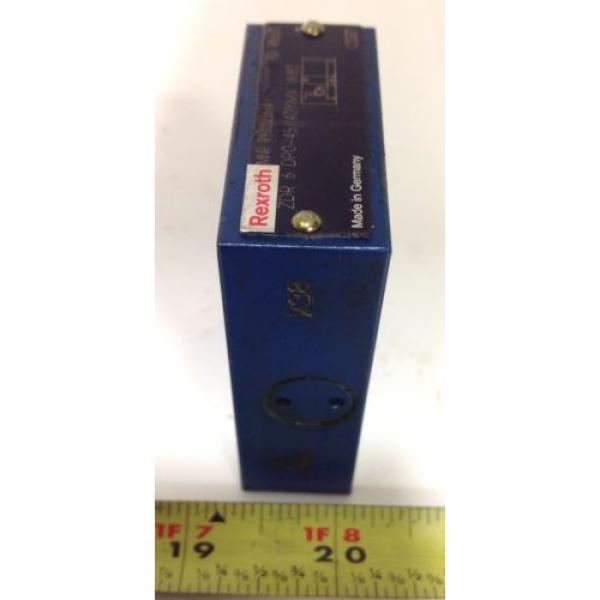 REXROTH HYDRAULIC VALVE R900323664 / ZDR 6 DPO-45/40YMV W80 #2 image