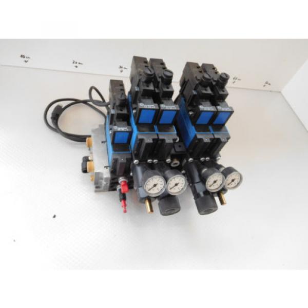 Rexroth Pneumatic Valve terminal mit 4 x rexroth 576360 + rexroth 376351 top 1a #1 image
