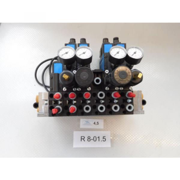 Rexroth Pneumatic Valve terminal mit 4 x rexroth 576360 + rexroth 376351 top 1a #2 image