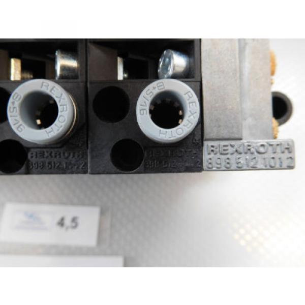Rexroth Pneumatic Valve terminal mit 4 x rexroth 576360 + rexroth 376351 top 1a #3 image