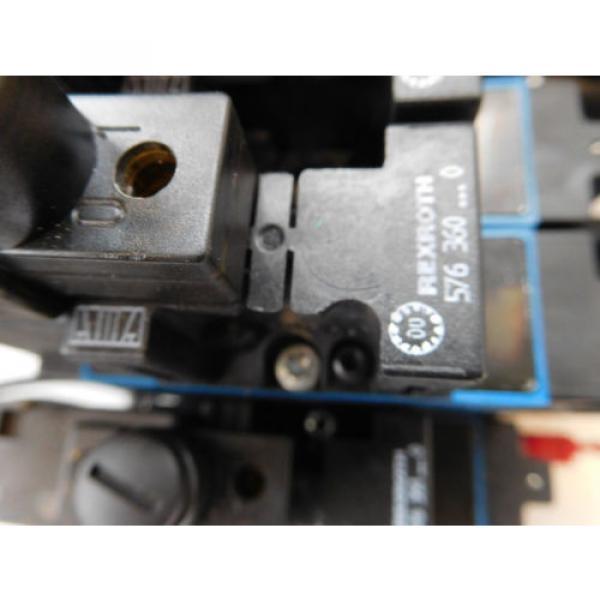 Rexroth Pneumatic Valve terminal mit 4 x rexroth 576360 + rexroth 376351 top 1a #4 image