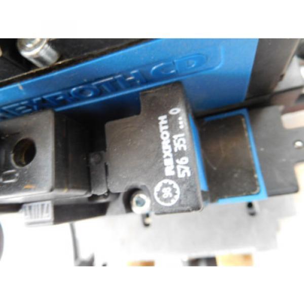 Rexroth Pneumatic Valve terminal mit 4 x rexroth 576360 + rexroth 376351 top 1a #5 image