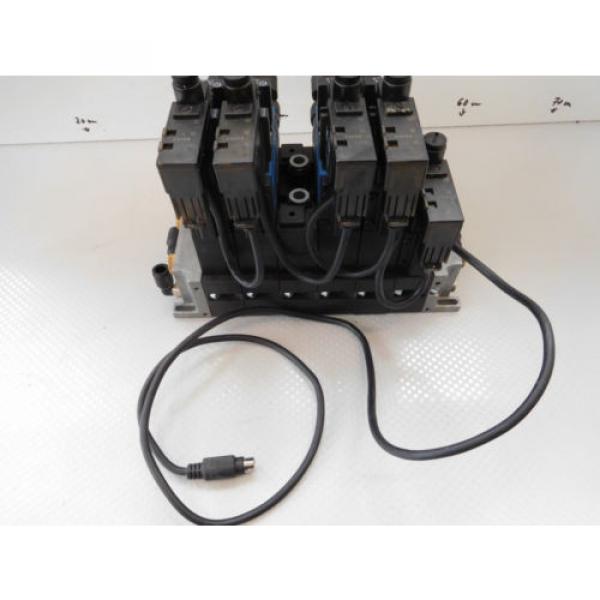 Rexroth Pneumatic Valve terminal mit 4 x rexroth 576360 + rexroth 376351 top 1a #7 image
