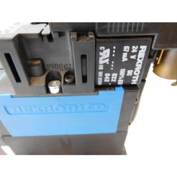 Rexroth Pneumatic Valve terminal mit 4 x rexroth 576360 + rexroth 376351 top 1a #8 image