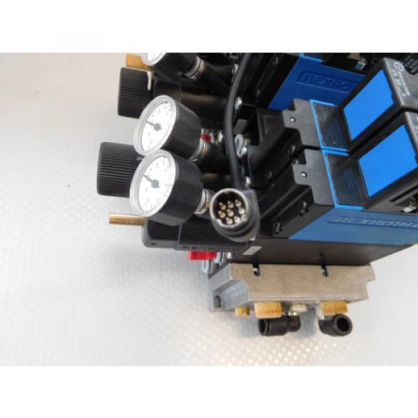 Rexroth Pneumatic Valve terminal mit 4 x rexroth 576360 + rexroth 376351 top 1a #10 image