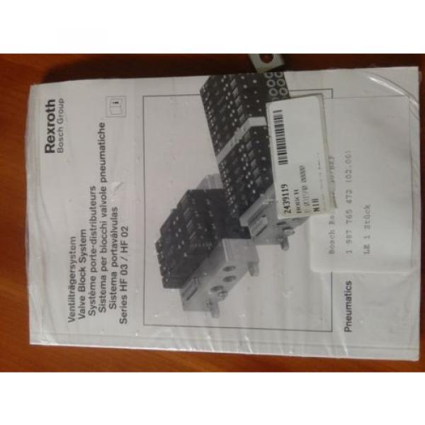 BOSCH REXROTH P-031590-00000 VALVE BLOCK SYSTEM, Origin #5 image