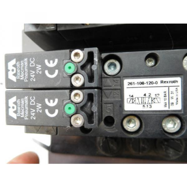 Rexroth Mecman R480263202 Valve terminal mit3 x rexroth 261-108-120-0 unused #4 image