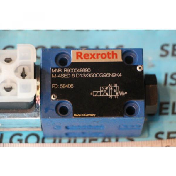 Rexroth R900049890 M-4SED6D13/350CG96N9K4 Hydraulic Solenoid Valve 80/96VDC origin #2 image