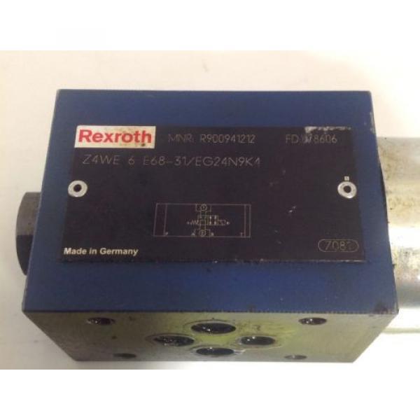 REXROTH HYDRAULIC SOLENOID VALVE Z4WE 6 E68-31/EG24N9K4 / R900941212 #2 image