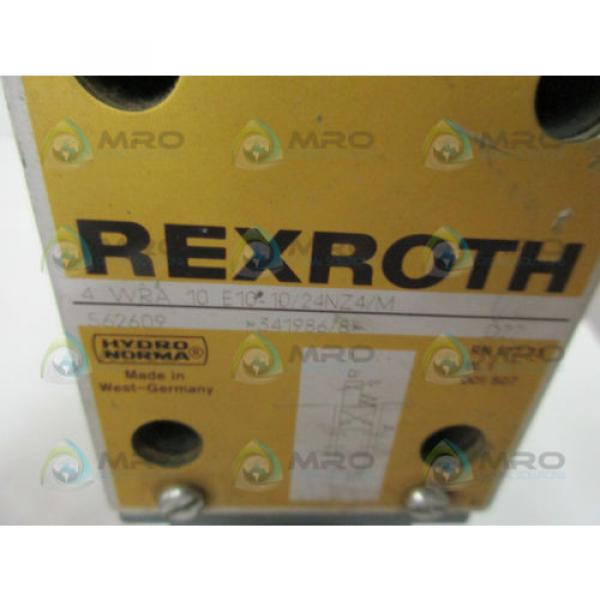 REXROTH 4WRA10E10-10/24NZ4/M PROPORTIONAL VALVE USED #4 image
