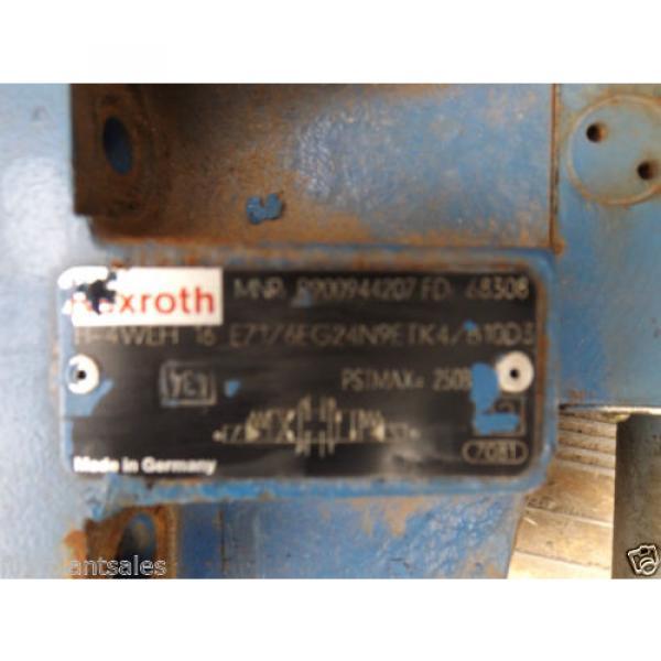 REXROTH ELECTRIC HYDRAULIC VALVE BLOCK MNR: R900944207 #4 image
