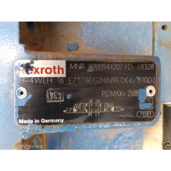 REXROTH ELECTRIC HYDRAULIC VALVE BLOCK MNR: R900944207 #5 image