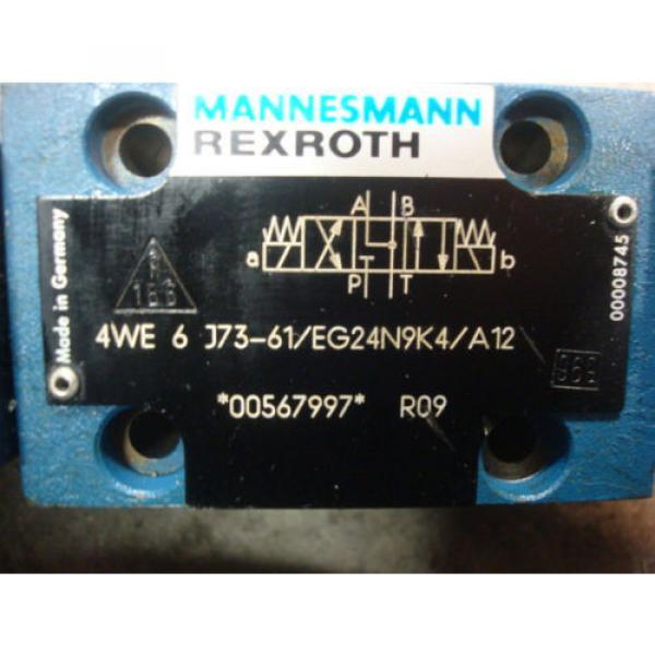 USED Mannesmann Rexroth 4WE 6 J73-61/EG24N9K4/A12 Solenoid Valve 00567997 #4 image
