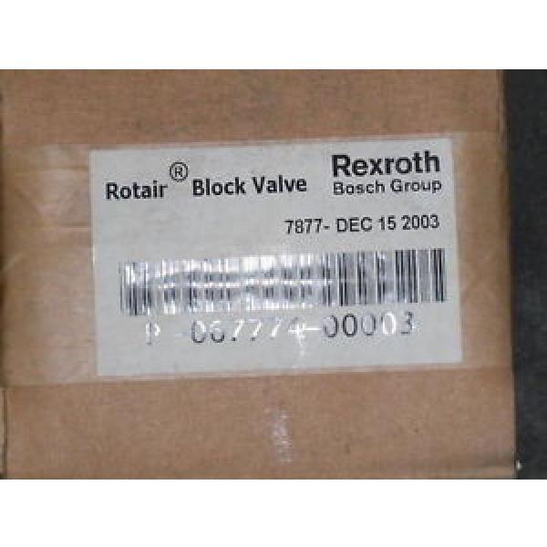 REXROTH ROTAIR BLOCK VALVE P-067774-00003  SEALED #1 image